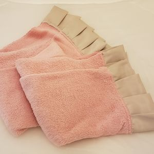 New Stock, 2 For $10 Baby blankets satin ruffle